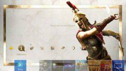 Tema dinamico gratuito per PS4 di Assassin's Creed Odyssey