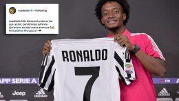 Cuadrado presenta la maglia numero 7 di Cristiano Ronaldo
