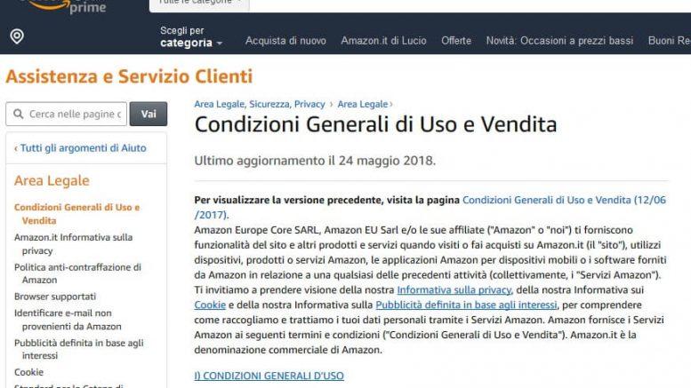 Condizioni generali di uso e di vendita - Amazon.it