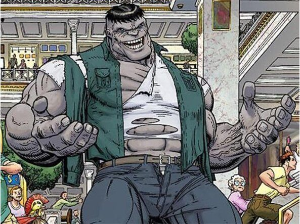 Hulk di colore grigio