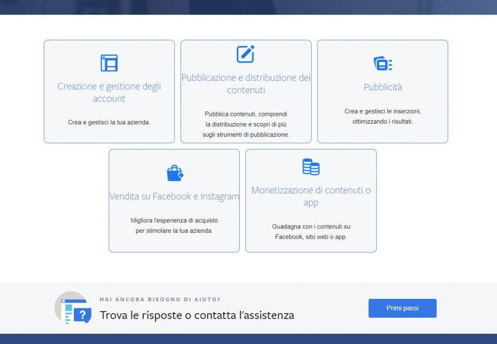 Come contattare l'assistenza business di Facebook